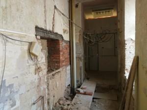 Přízemí – nový průchod mezi školou a internátem